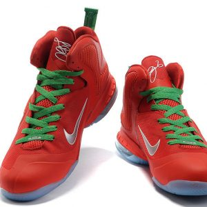 Authentic Lebron James 9 All Red Basketball
