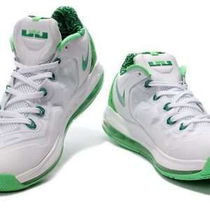 For Nike Air Max LeBron 11 Low ??Easter?? White/Green-