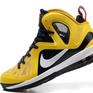 Authentic Lebron James 9.5 Yellow Black Red Basketball